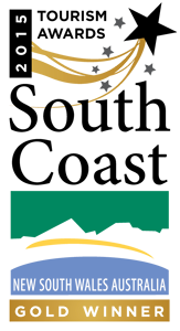 South Coast Tourism Awards - Gold Winner 2015