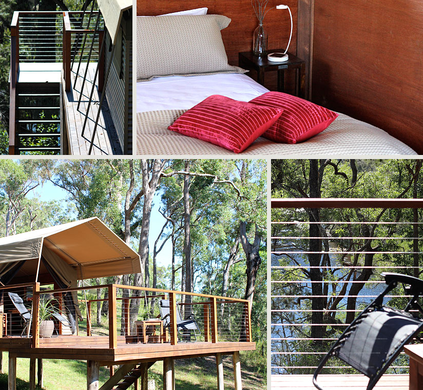 Luxury tent accomodation